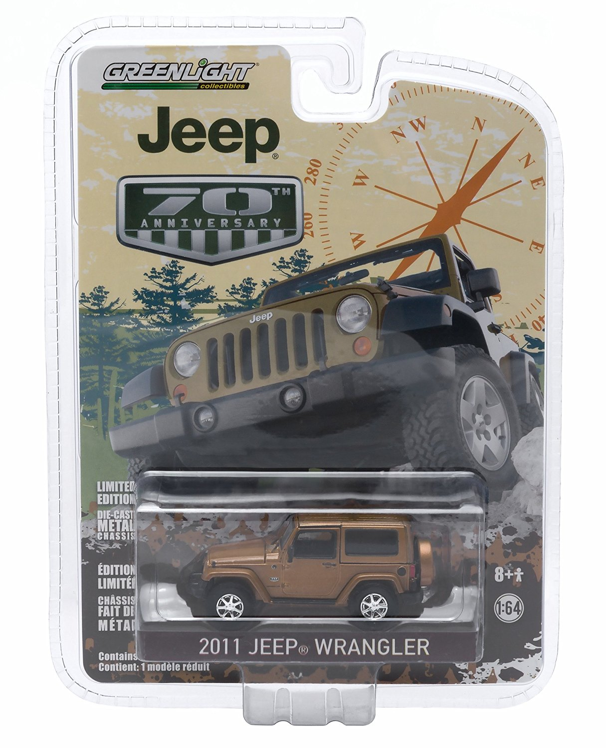 2011 JEEP WRANGLER (Bronze Star Pearl) * Jeep 70th Anniversary * 2015 Greenlight Collectibles Anniversary Collection Series 2 Limited Edition 1:64 Scale Die-Cast Vehicle