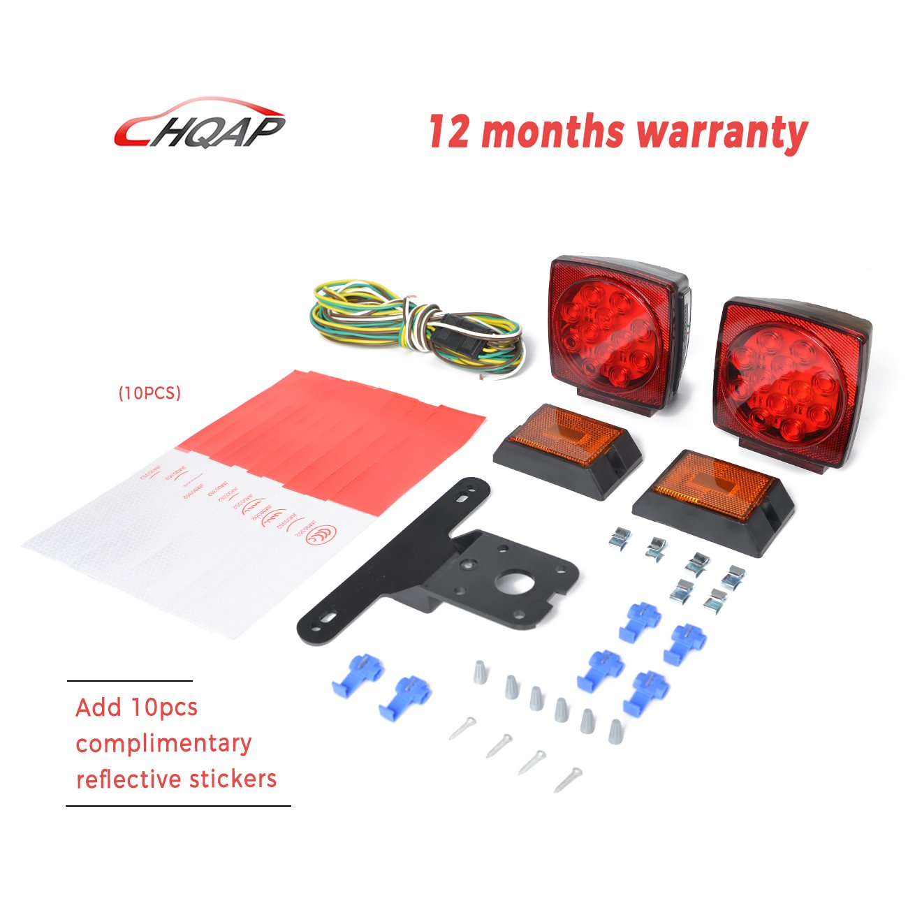 Cheap Led Tail Lights Trailer Find Deals On Light Wiring Harness Get Quotations Hqap 2018 New 12v Submersible Kit Combined Stop Taillights