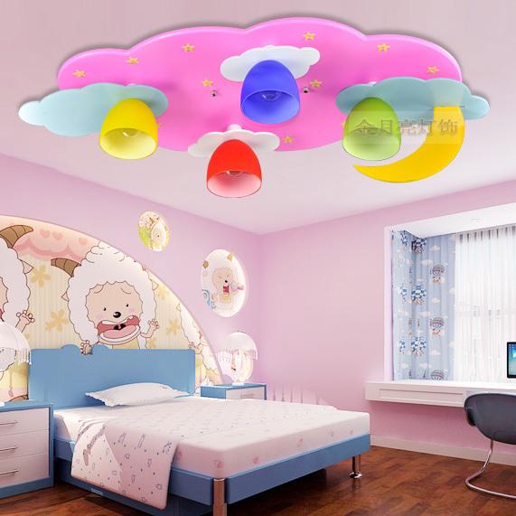 Blue Kids Room: Cartoon Children's Room Lamp Led Ceiling Lights Kids Boys