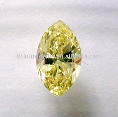 shiny mystic cubic zirconia marquise cut yellow synthetic beads cz