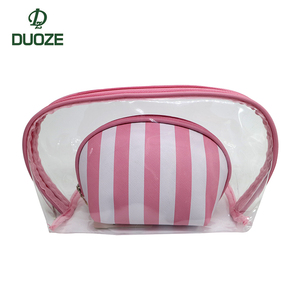 Guangzhou DuoZe factory customization PVC waterproof multifunction travel storage clear cosmetic bag