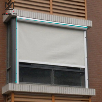 Outdoor Electric Windproof Roller Blind For Outside