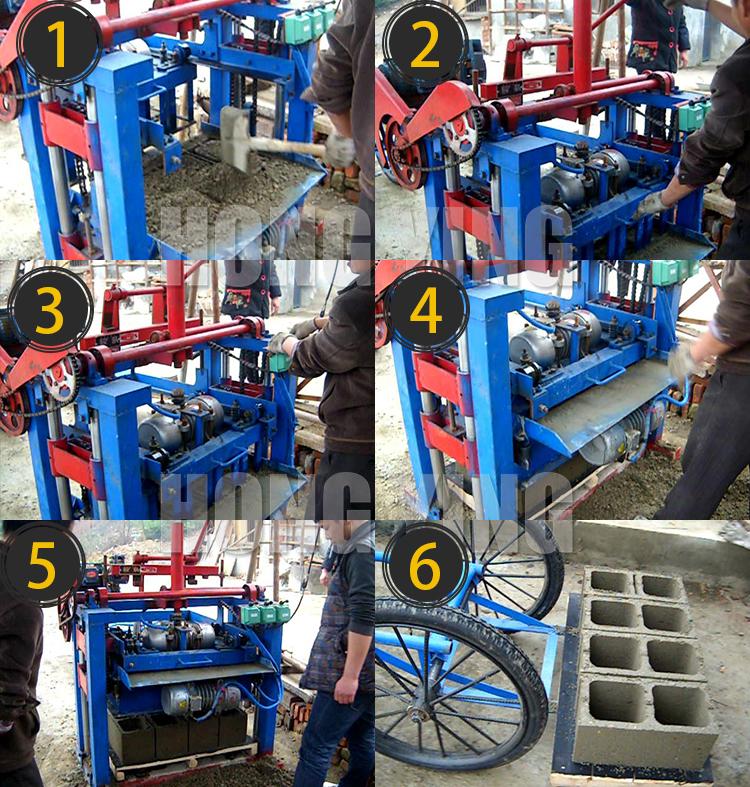 رخيصة كتلة خرسانية ماكينة تستخدم على نطاق واسع كتلة جوفاء صنع آلة السعر في الهند