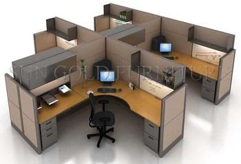 Ontwerp layout open moderne kantoor workstation in verschillende