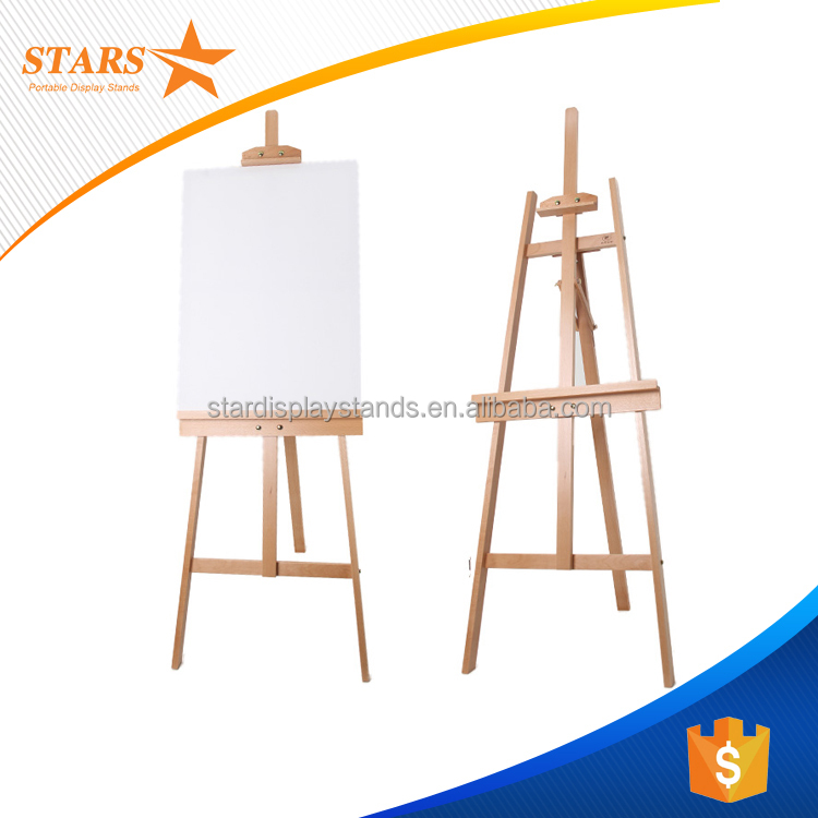 Wholesale Top Quality Beech Wooden Painting Display Easel 7Feet Height