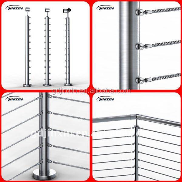 inox 304 baluster cable railing wire balustrade modern hand rails buy inox 304 baluster. Black Bedroom Furniture Sets. Home Design Ideas