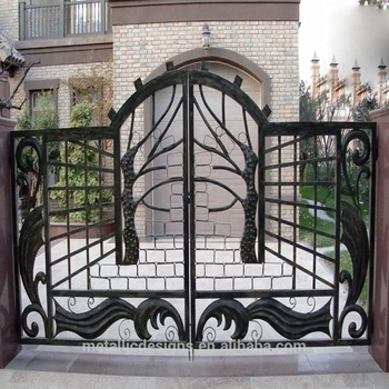 Front Iron Door Metal Driveway Gate Modern Main Gate Designs