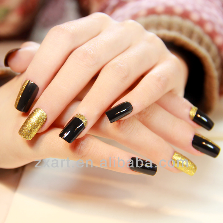 Manufacturer custom 2016 Metallic nail polish strip