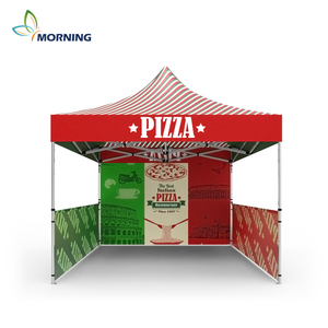 Outdoor Snack selling waterproof oxford canvas tent for PIZZA display