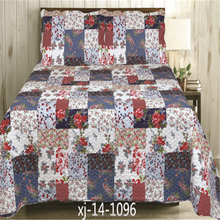 Red rose for adults comfortable printed bedding set