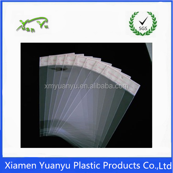 One use time OEM factory empty transparent OPP plastic bag.