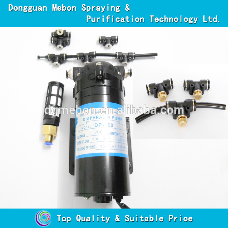 150PSI mist cooling kits system,40 nozzles micro fog system
