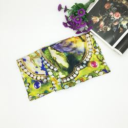 Chinese Colorful Hot-Selling Women Custom Wholesale Digital Print Silk Scarf