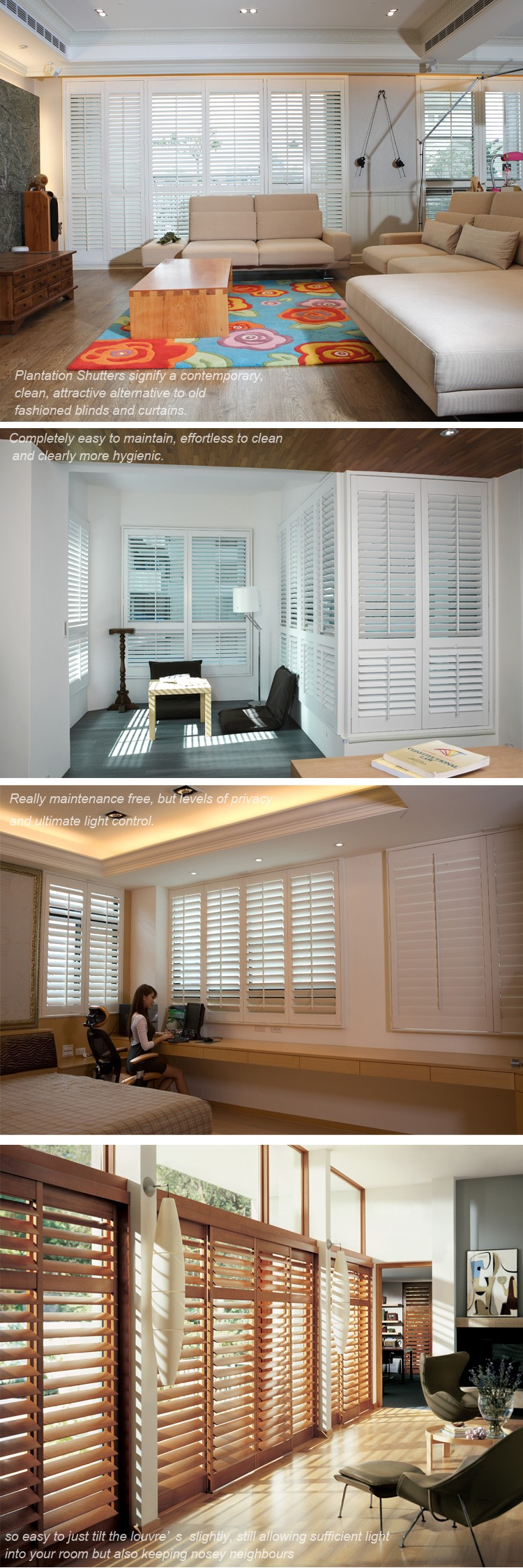 bathroom office hotel home wooden window plantation louver