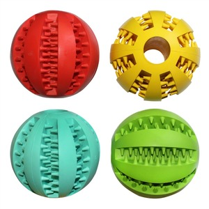 Soft rubber pet cleaning balls dog toys balls chew toys tooth cleaning balls