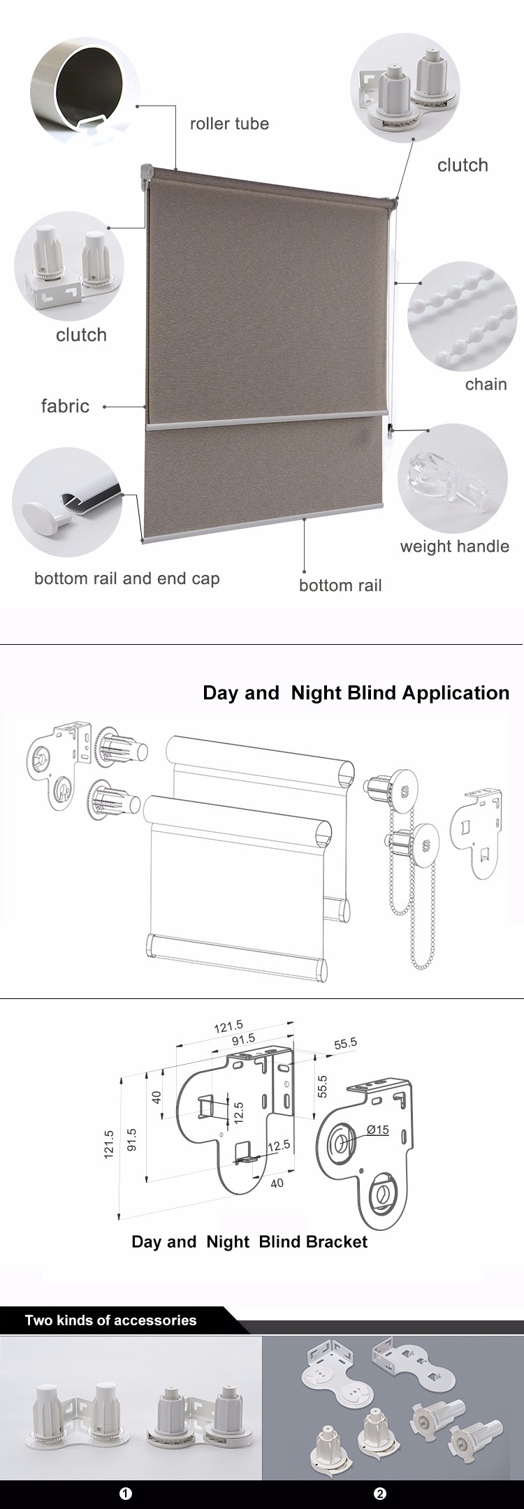 Blackout Roll Up Day And Night Window Shades Oem