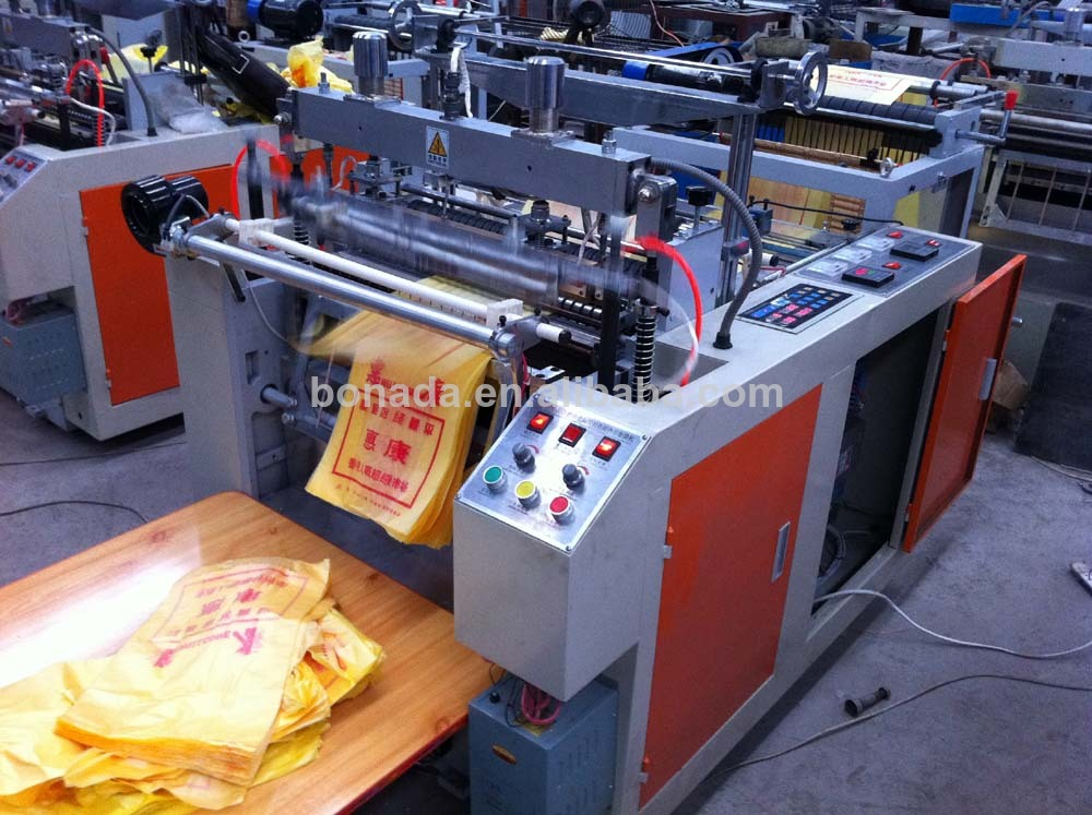 DFR-E800/1200 Full Automatic High Speed Hot Cutting T-shirt bag making machine