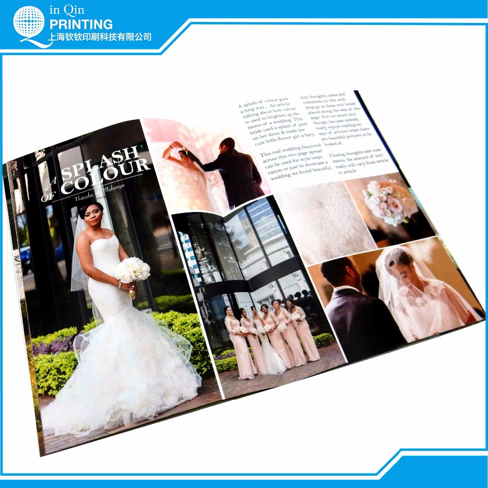 Saddle stitching art paper wholesale cheap magazine printing