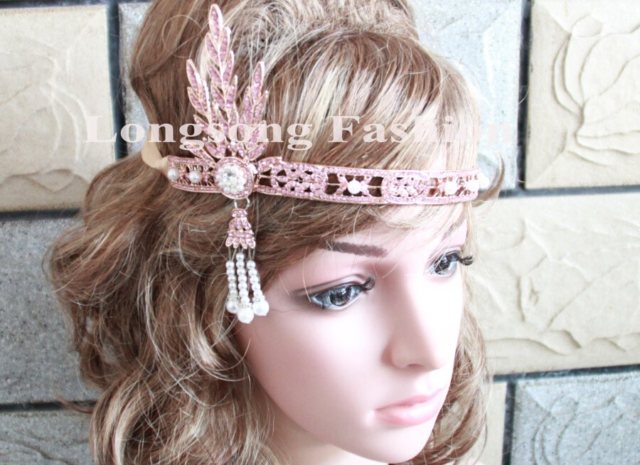 Free Shipping Hot sale crystal rhinestone Gatsby <strong>crowns</strong> Gatsby headpiece Bridal Headpiece MYGBC032-1
