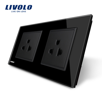 Livolo Manufacturer 16A US Standard Wall Electric / Power Double Socket /Plug VL-C7C2US-12
