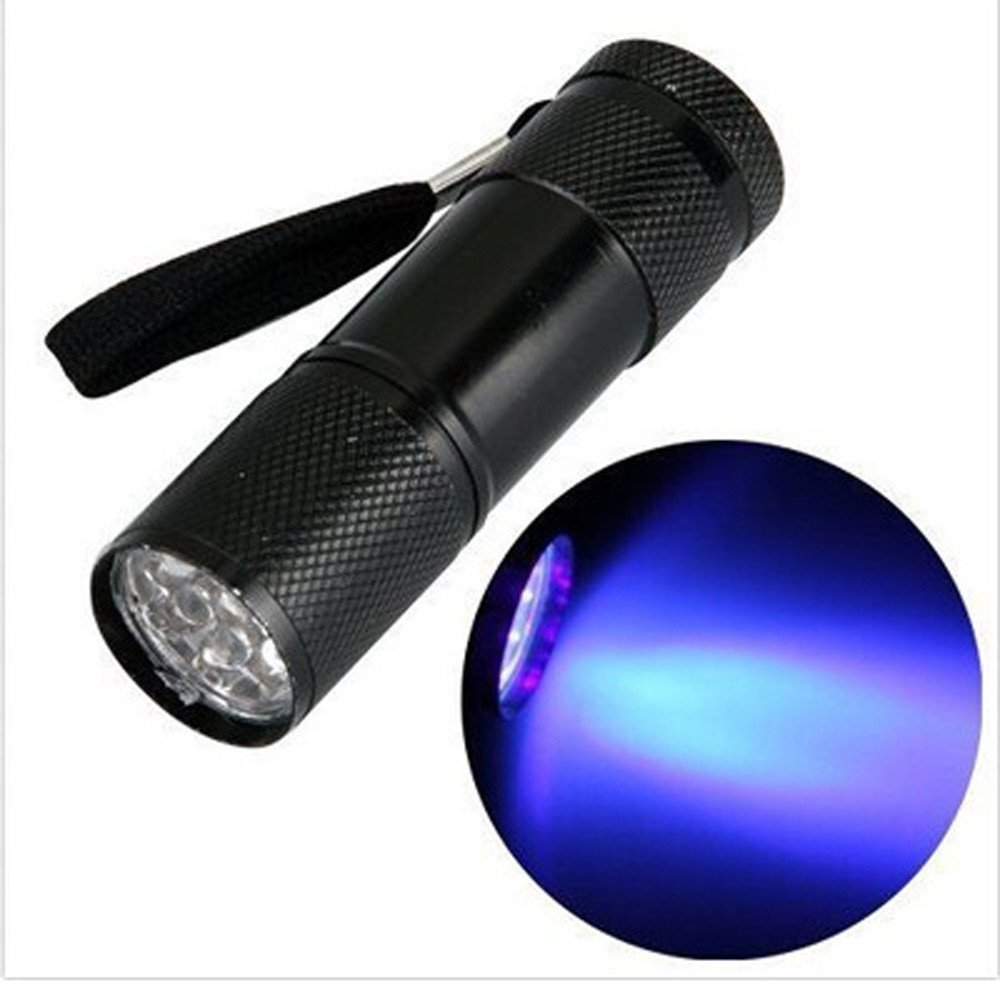9 Led Uv Ultra Violet Lamp Torch Flashlight For Anti-fake Uv Flashlight Led Lighting