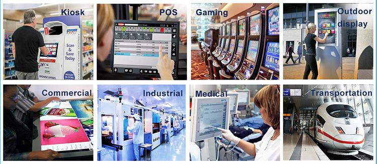LG pantalla 23,0 pulgadas ángulo completo de visión de la pantalla táctil capacitiva para Monitor de escritorio [LM230WF7-SSB3]