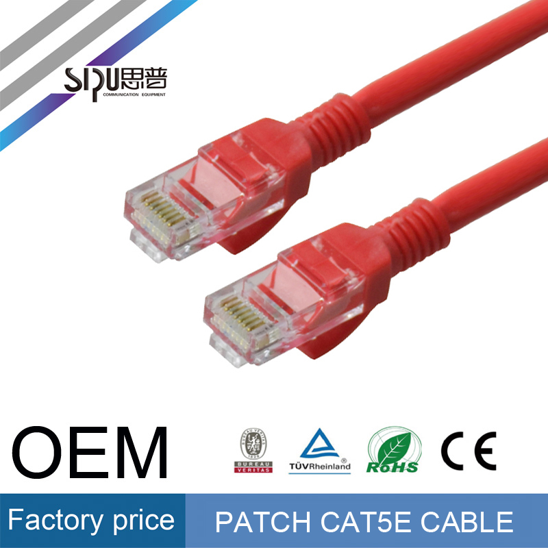 SIPU high speed computer cable CCA utp cat5 patch cord crimping machine