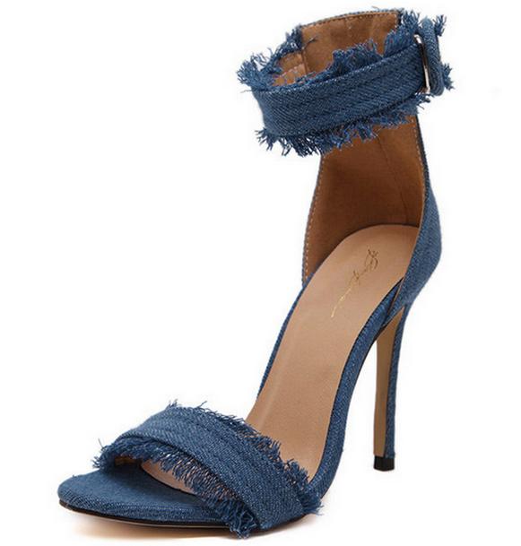 Denim Verano Zapatos Sandalias Tacón Las Señoras Sandalia Buy Sexy 2017 2017 Mujer sandalias De Alto X85650a T1JKlFc