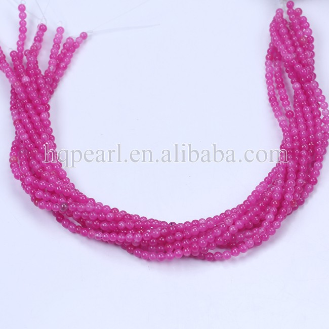4mm round rose color saponite stone loose bead wholesale