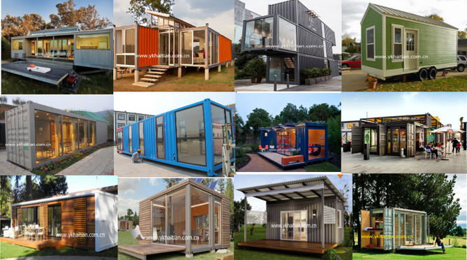 Container coffee shop hydraulic container house