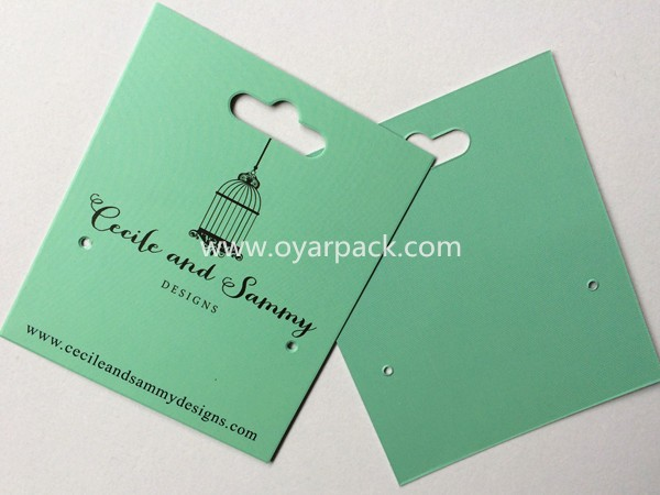 Customized Printing Logo Earring Card With Peg-hook Hole