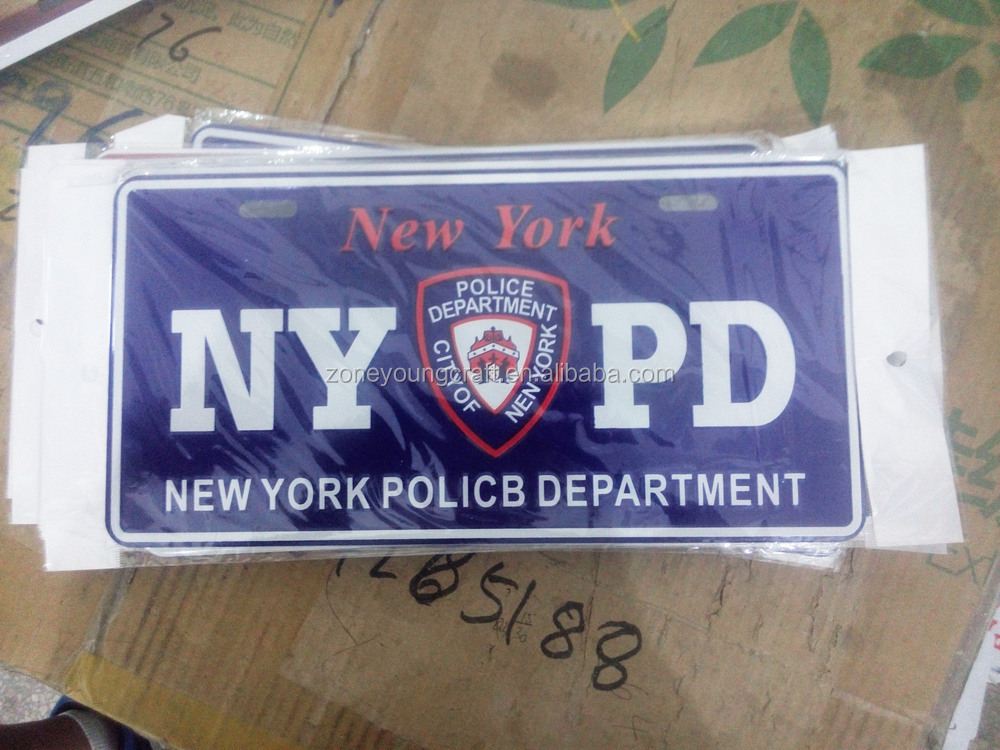 American New York sublimation illuminated aluminum license plate
