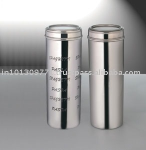 Pasta Jar Storage Canister Stainless Steel Canisters Printed