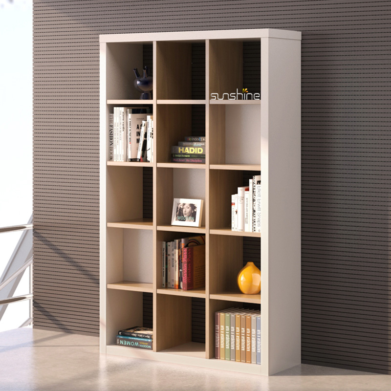 Wooden Open Book File Shelf Cabinet
