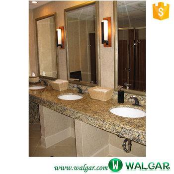 Prefab bathroom granite vanity top for hotel with double Prefab granite bathroom vanity countertops