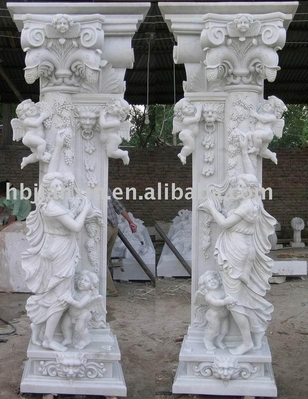 Pedestal de marmol base columna pilares identificaci n - Columna de marmol ...