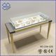 High-end MDF wooden jewelry stands showcase with Tempered glass