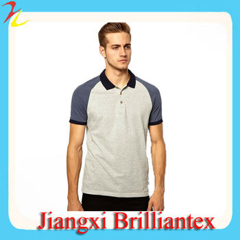 Polo shirt with cut sew men polo shirt with contrast for Stiff collar polo shirt