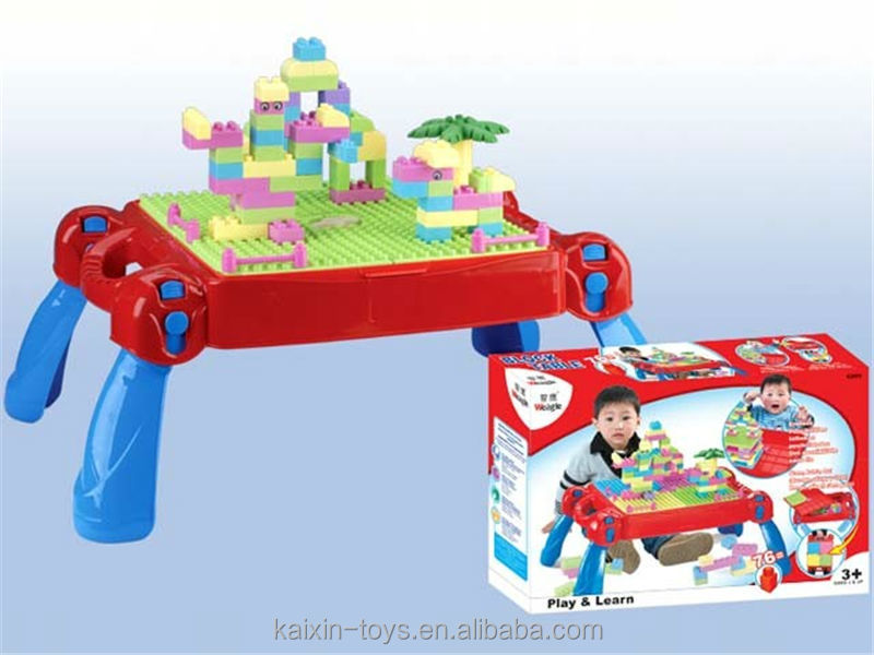 Lovely 10198659 Multi Functional Plastic Learning Table Building Block Study Table  Toy For Kids EN71/