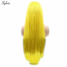 Sylvia плетеные парики Желтый/#613/розовый красный/коричневый/мятный зеленый/красный синтетический парик с косами для женщин натуральный волос(Китай)