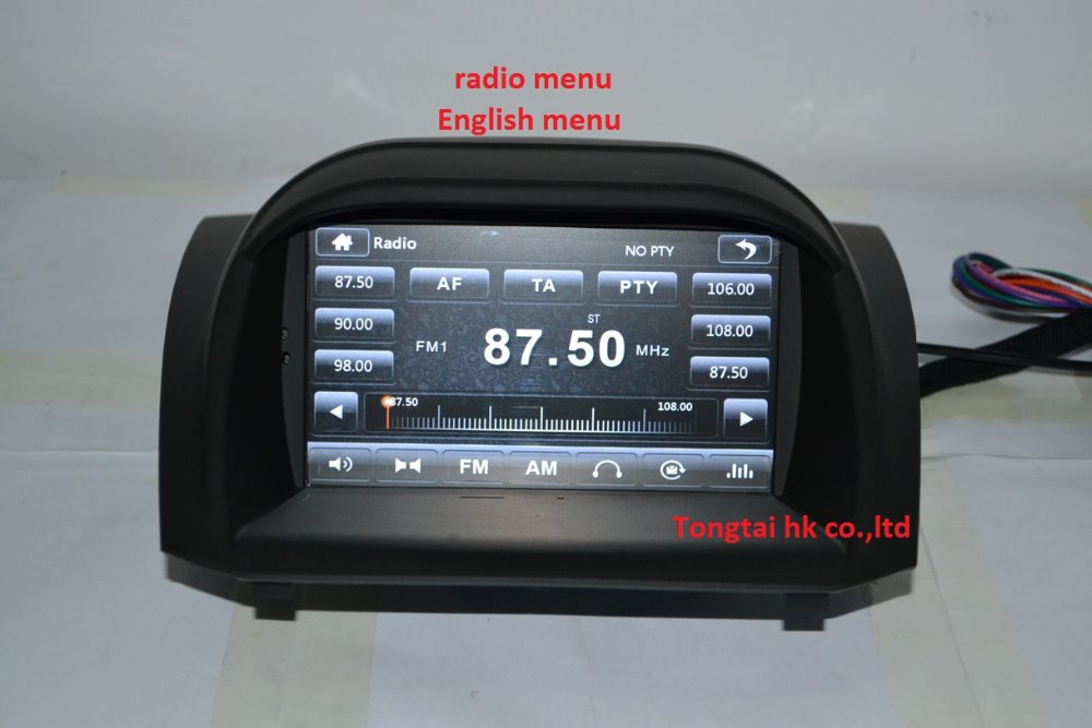 7 for ford fiesta 2012 2014 car dvd player gps navigation ipod bt radio 3g canbus sync100. Black Bedroom Furniture Sets. Home Design Ideas
