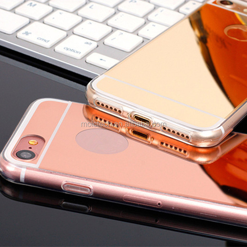 In Stock Gold Supplier Anti Shock Ultra Thin Full Protective Mirror Phone Case for iPhone 6/6s/6plus7/7plus/8/8plus