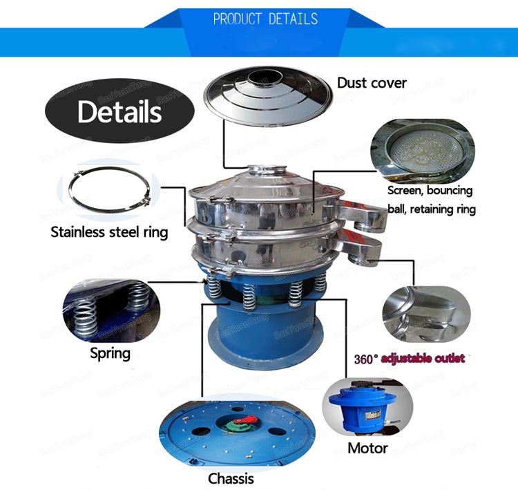 Maggot / fly larva sieving separator machine vibratory screen shaker sieve