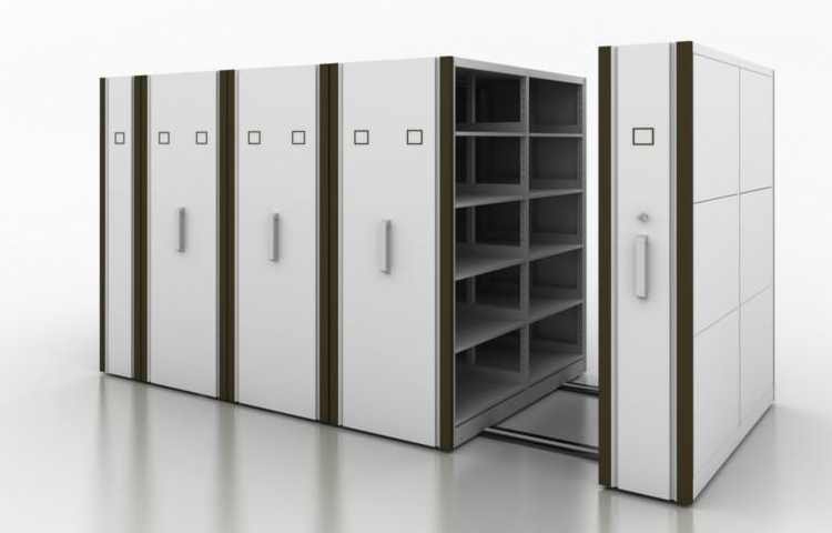 Office Furniture Mechanical Steel Mobile Book Shelving