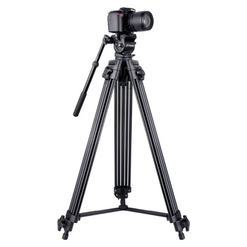 YELANGU Scalable Aluminum Alloy Professional Camera Video Tripod