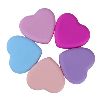 free sample heart shape silicone makeup brush cleaner mat tool