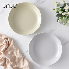 Wholesale nordic style food serving round matte glaze deep bulk dining ceramic pasta plate