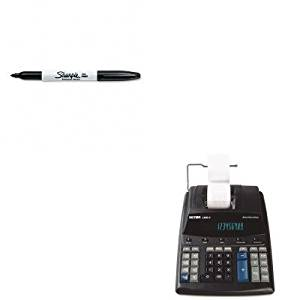 Victor KITSAN30001VCT14604 - Value Kit 1460-4 Extra Heavy-Duty Two-Color Printing Calculator (VCT14604) and Sharpie Permanent Marker (SAN30001)
