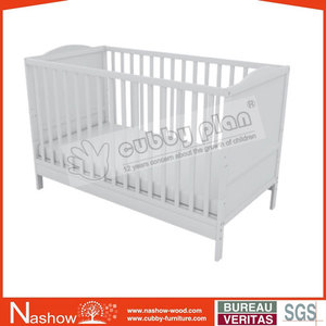 Cubby Plan LMBC-060 New Design 2 in 1 Pine Nursery Furniture Wooden Baby White Crib
