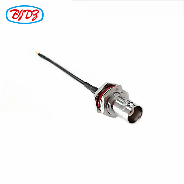 RF Coaxial Male and female cable assembly connector BNC female BH to MMCX male with cable RG174 RG316